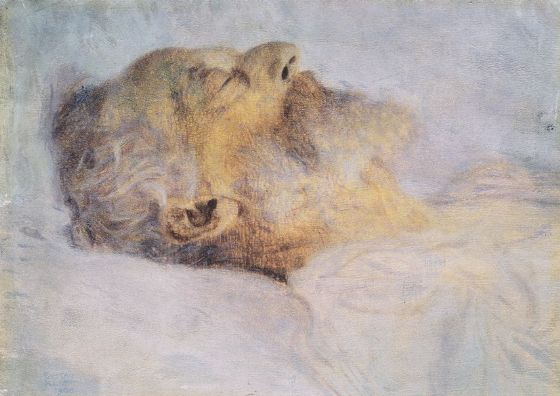 Klimt, Gustav: Old Man on His Deathbed. Fine Art Print/Poster. Sizes: A4/A3/A2/A1 (002225)